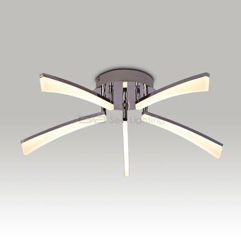 Stainless Steel Ceiling Lamp Fan With Light 5w Led 1105362