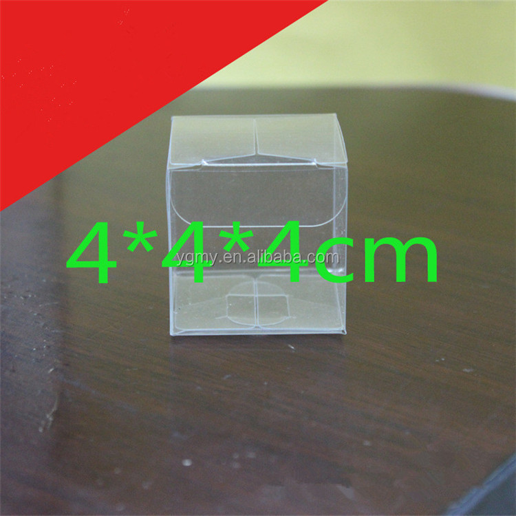 4*4*4cm Clear PVC favor Packaging boxes transparent plastic gift display package square Box show case