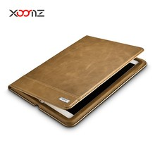 XOOMZ Genuine leather Wallet Case for iPad Ari 2 with Magnetic Closure and Stand