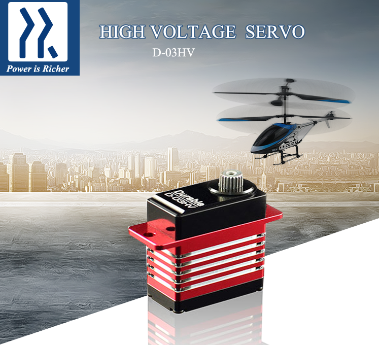 Power HD HV Coreless Servo D-03HV 0.045 Sec 3kg Torque Micro Digital Servo for 250 450 RC Helicopter