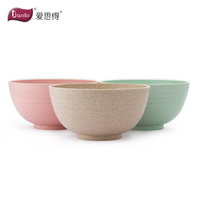 Eco Friendly Healthy Wheat Straw Plastic Bowl for Rice,Soup, Popcorn, Fruit, Salad,Cereal Dinner Party Bowls