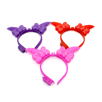 2018new fashion led claw bow headband led flashing Light party supplies 1d60d4bbe09