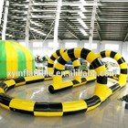New products Customize zorb ball pitch Inflatable Race Track Model for rental