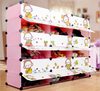 Hot selling 18 cubes plastic cheap clothes cartoon storage cabinet (FH-AW241821-18)