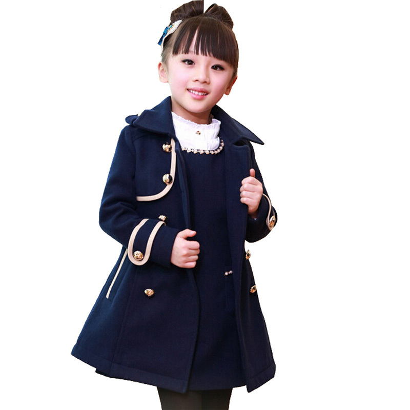 Get Quotations · New2015 British Style Girls Winter Coat Sashes Kids Girls  Clothes Button Fashino Slim Manteau Fille Enfant 3d3db1f1f