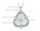 Statement Jewellry Rose Gold White Gold Plating Cubic zircon Flower Shell Necklace For Ladies