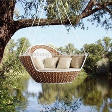 round rattan outdoor bed outdoor hanging swing