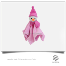 cute pink plush Chrismas baby comforter