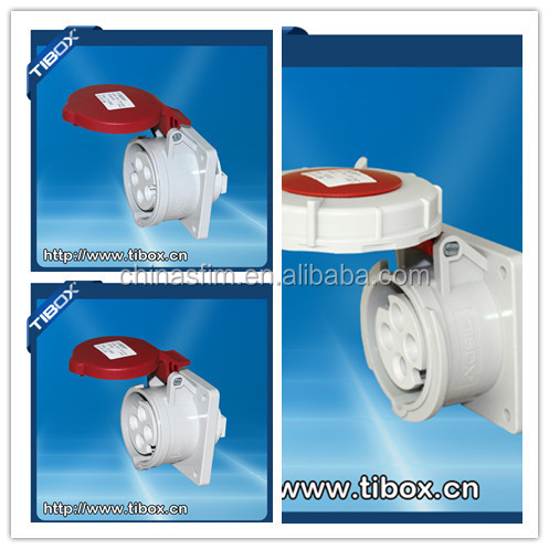 2015 Newly developed TIBOX 3 Pin 230V industrical electrical plug