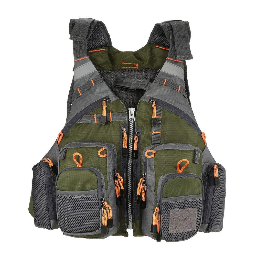 SAFETY Fishing Vest Life Jacket,Swimming Sailing Waistcoat for Men and Women -Breathable Mesh -Trout Fishing Gear, for Outdoor Sport Adult Life Jacket