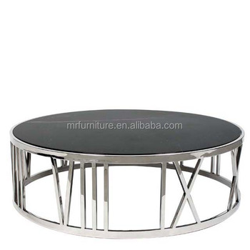 Black Glass Stainless Steel Round Coffee Table Buy Black Mirrored Coffee Tablestainless Steel Round Coffee Tablemodern Round Coffee Table Product
