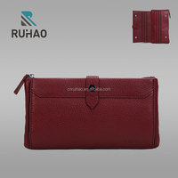 Business custom men`s leather long wallet