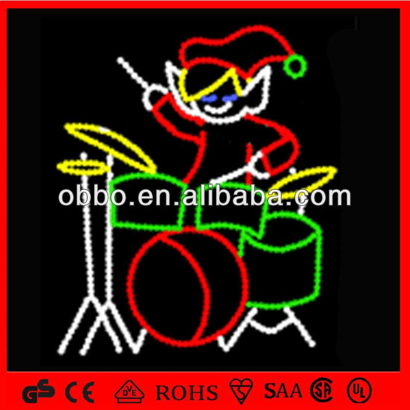 decorativos de navidad en movimiento de santa claus de iluminacin