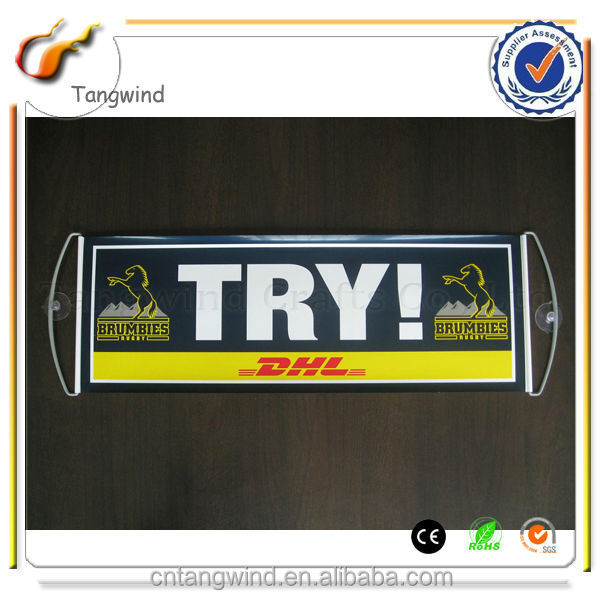 promotion retractable plastic flag banner (TW-FB007)