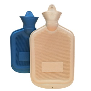 Eco-friendly durable square 2 liter rubber hot water bottle