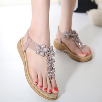 6f17295ad3325c Hot koop laatste vrouwen fancy platte sandalen dames schoenen 2016 zomer  sandalen