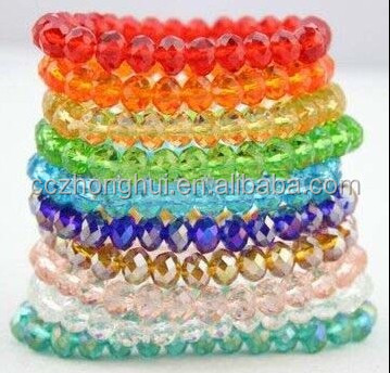 2017 New Faceted Glass Beads Rondelle glass Beads Wholesale crystal beads
