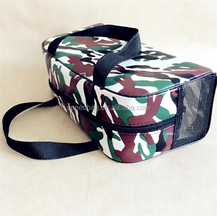 new simple style camouflage leather duffel bag luggage and travel bag