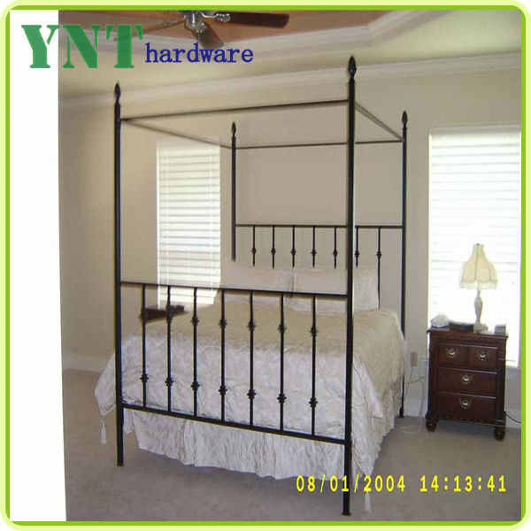 iron canopy bed frame homesfeed pertaining to iron canopy be