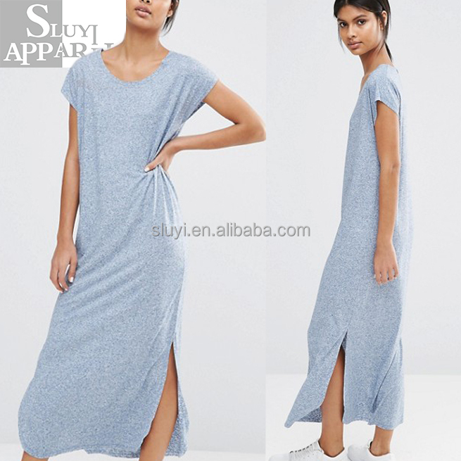 Online shopping wholesale blue maxi dress jersey tunic women dresses ladies fashion beach prom party casual summer wear clothing