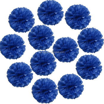 Royal Blue Tissue Paper Pom Pomstissue Paper Flowersparty
