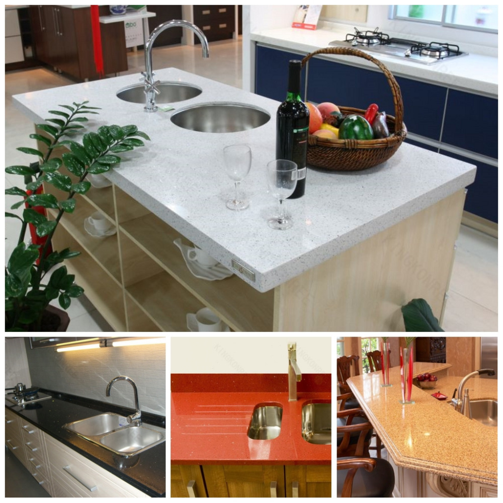 Kitchen Countertops Product : Kitchen counter tops with vein quartz slab buy