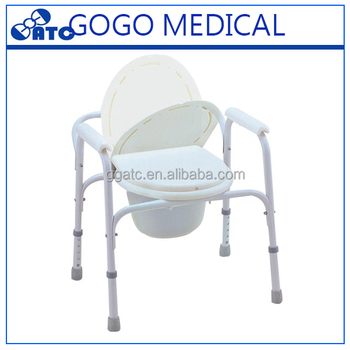 Patients Used Toilet Commode Chair For Disabled People In The ...