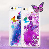 Bling Phone Case Cover Floating Liquid Plastic Case For iPhone6 With Butterfly