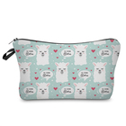 JomTokoy Custom Printed Fashion Make up Cosmetic Cotton Polyester Zipper Pouch Bag