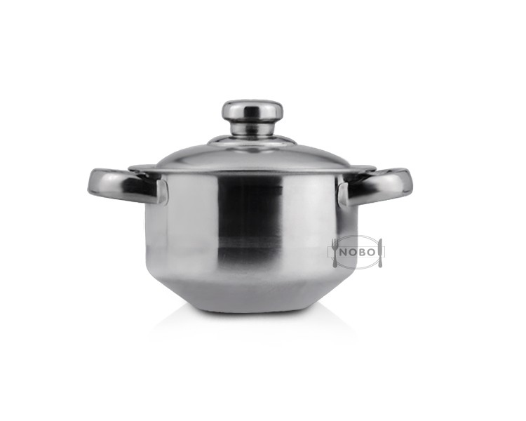 4 pcs set stainless steel material casserole/cooking pot /soup pot with steel lid and handle