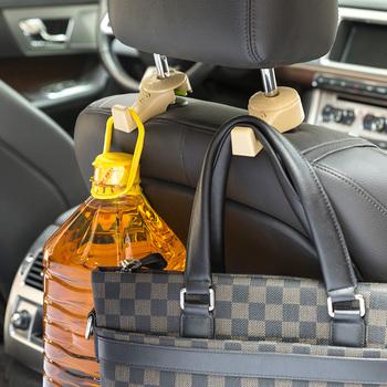 hoge kwaliteit abs materiaal hanger auto back seat hoofdsteun interieur haken auto zakken haak