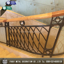 Top quality HDG price wrought iron stair railing