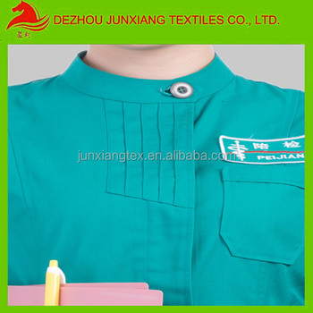 T C Plain Green Color Fabric For Medical Uniform 21x21 100x50
