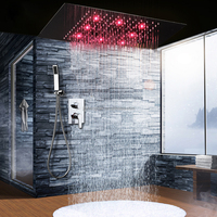 2017 Ceiling Rain Large LED Shower Set Concealed Shower Hot And Cold Faucets/ Brass Handheld Spray / Bath Shower For Sale
