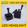 Best selling car accessories!h7 led canbus all-in-one 30w high power h11 h8 h9 car cree led light