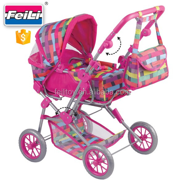 feili toys dolls pram 5 10 years with shoulder bag deluxe doll pram baby doll strollers and car. Black Bedroom Furniture Sets. Home Design Ideas