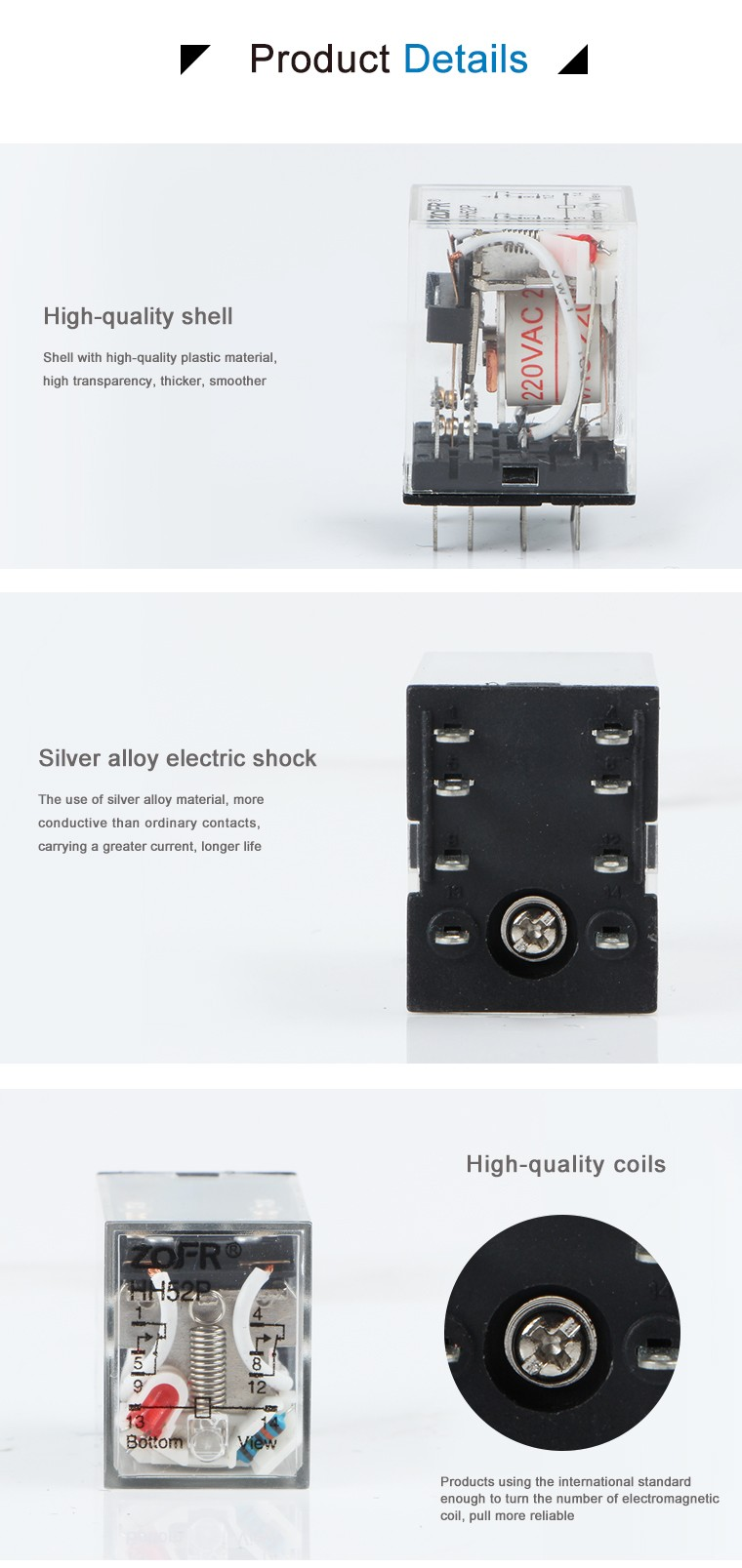 Blue Color Hhp Electromagnetic Relay  Pin Dpdt My Relay Buy - Dpdt relay buy