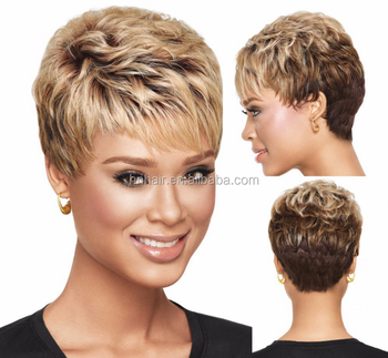 donald trump wigS wholesale honey blonde short synthetic wig for women 93578090d