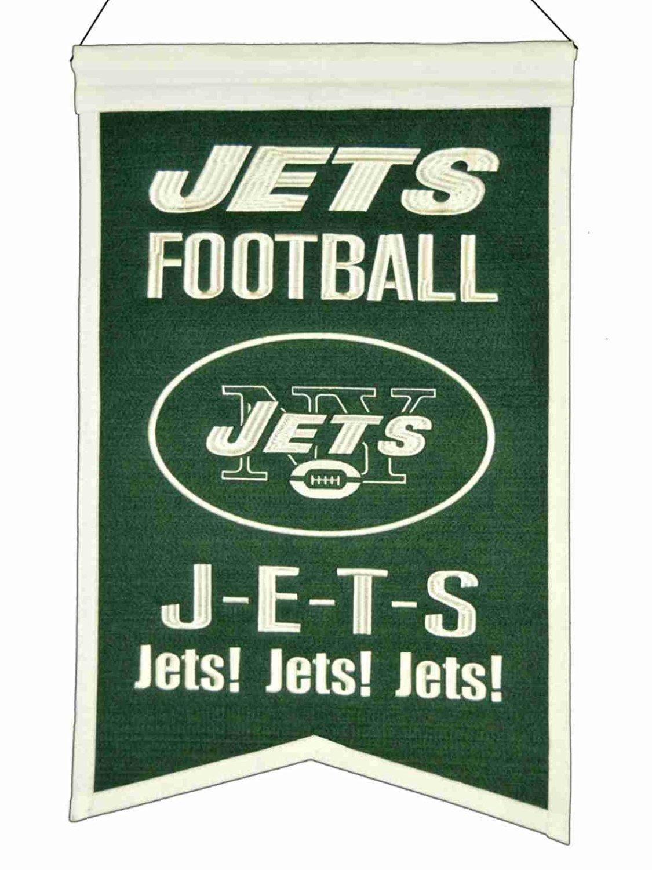 "New York Jets Winning Streak ""Jets! Jets! Jets!"" Franchise Wool Banner (14""x22"")"