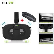 New FIIT VR 3D Virtual Reality Phone Movies Video Headset Oculus Rift Google Cardboard 2.0 VR Glasses+Bluetooth Control Gamepad