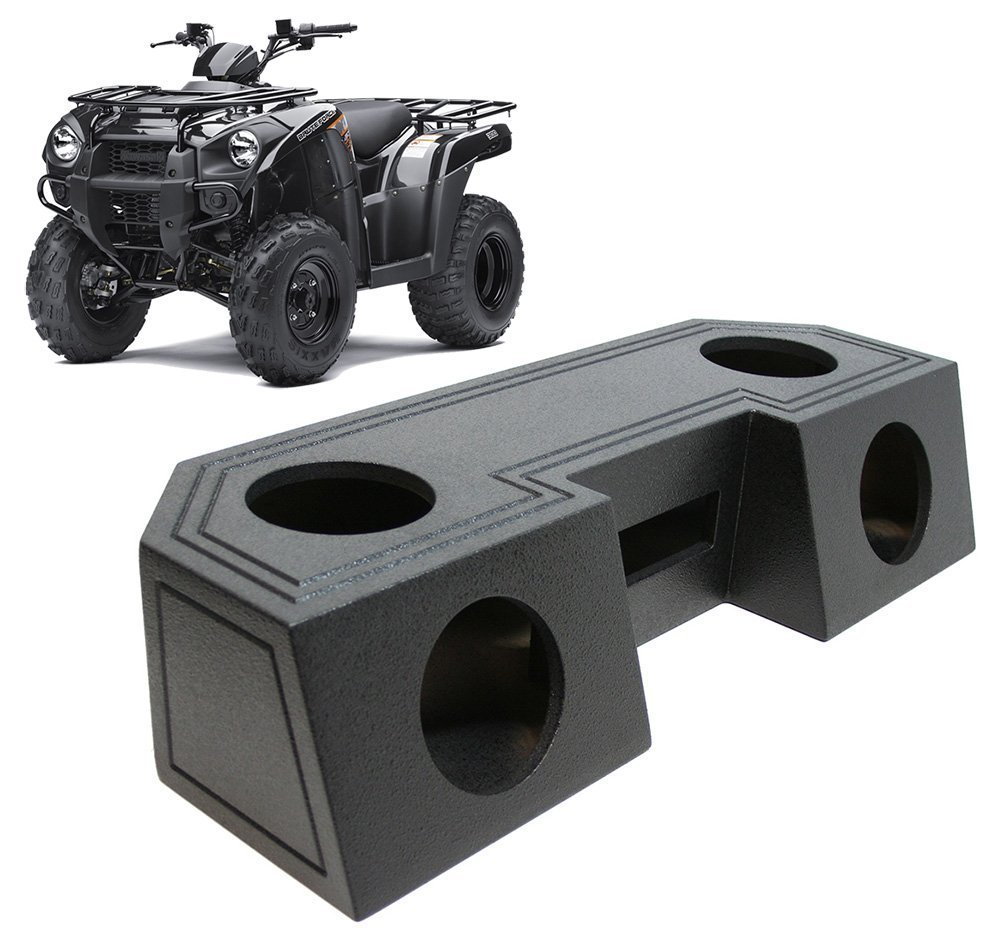 "Universal ATV UTV Offroad Vehicle Quad 6 1/2"" Speaker Box & Radio Mount - Rhino Coated"