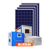 10kw Complete Off Grid Home Power Solar System with solar cell Solar Panel and Lead acid storage battery backup energy systems