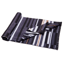 Striped Fashion Scarf Black And White Fabric