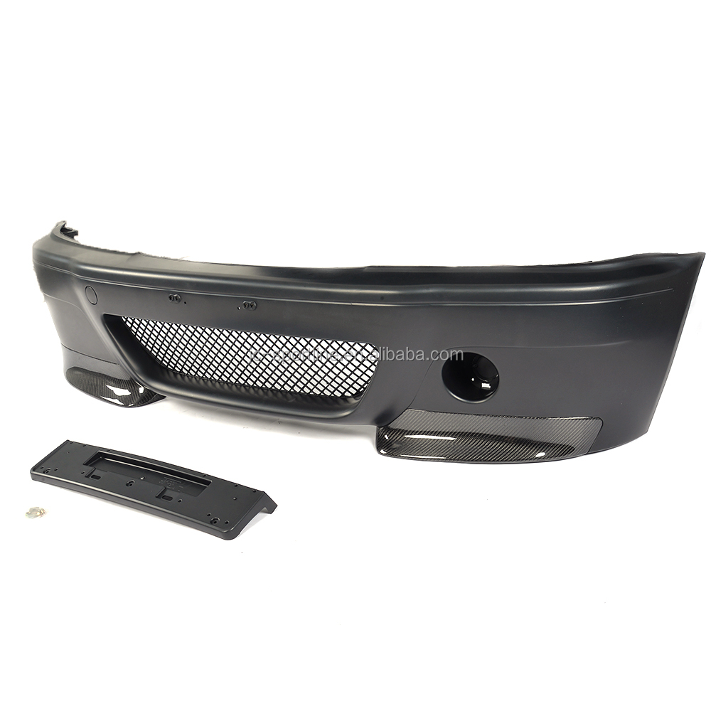 E46 M3 CSL Front Bumper with Carbon Splitters for BMW E46 M3 Base Coupe 2-Door 01-06