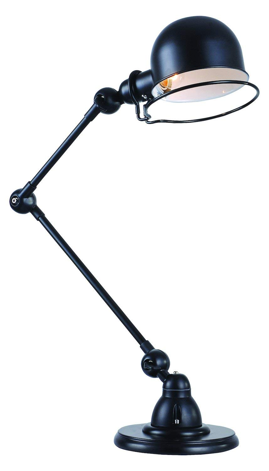 Bronze Industrial 15.75in. Wide Single Light Boom Arm Desk Lamp from The Urban Classics Collection