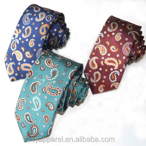 Paisley Jacquard 100%polyester woven neck ties for men