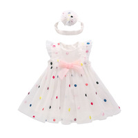 CWD8 Children's wear girls dress 2019 summer new children's dress color princess mesh skirt