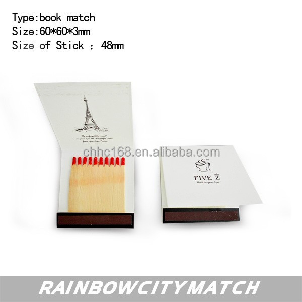 book match with customized logo for promotion