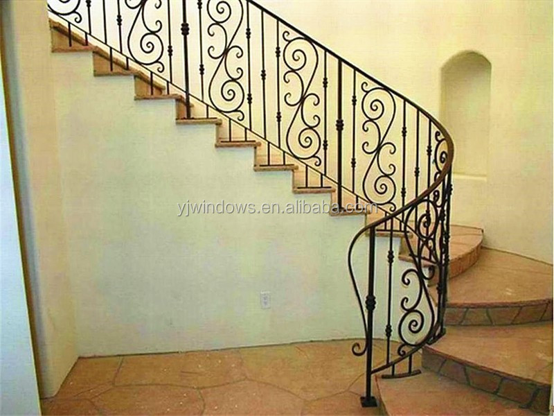 Latest model iron outside handrailrail staircase