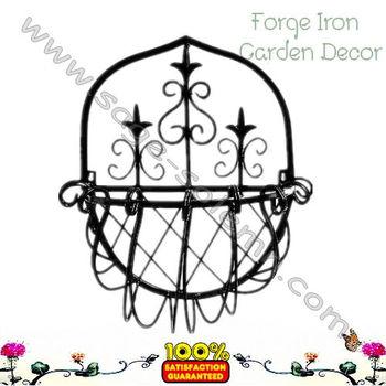 Wrought Iron Wall Hanging Basket